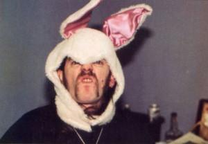 Lemmy with bunny ears