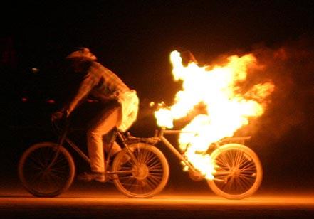 ποδήλατα με φωτιά