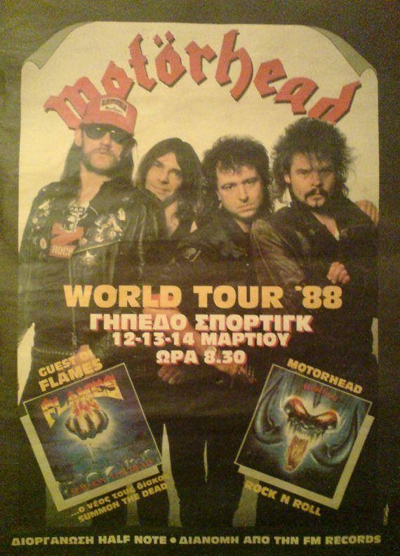 Motorhead poster from Athens live shows